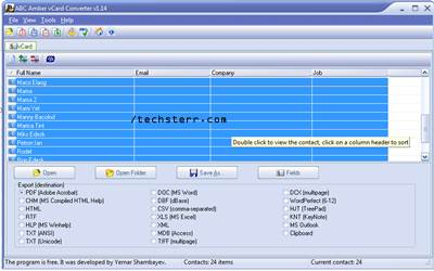 How to import  VCF contacts to Blackberry Smartphones