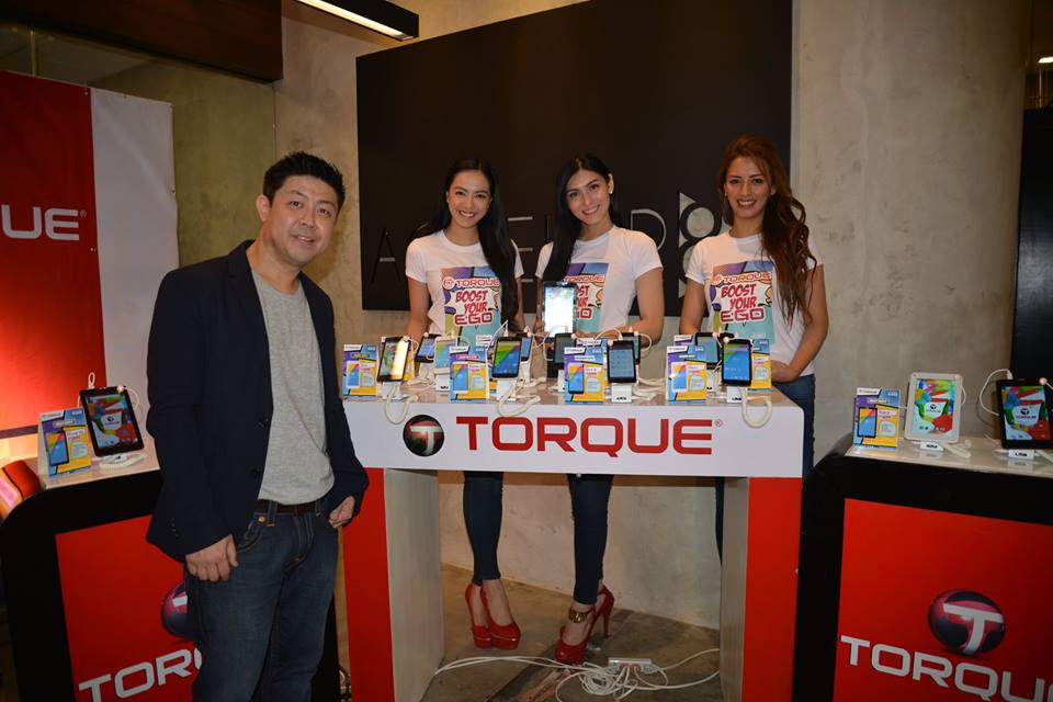 President and CEO of Torque Mobile, Mr. Chris Uyco, with the newly launched EGO Boost Edition Smartphones.